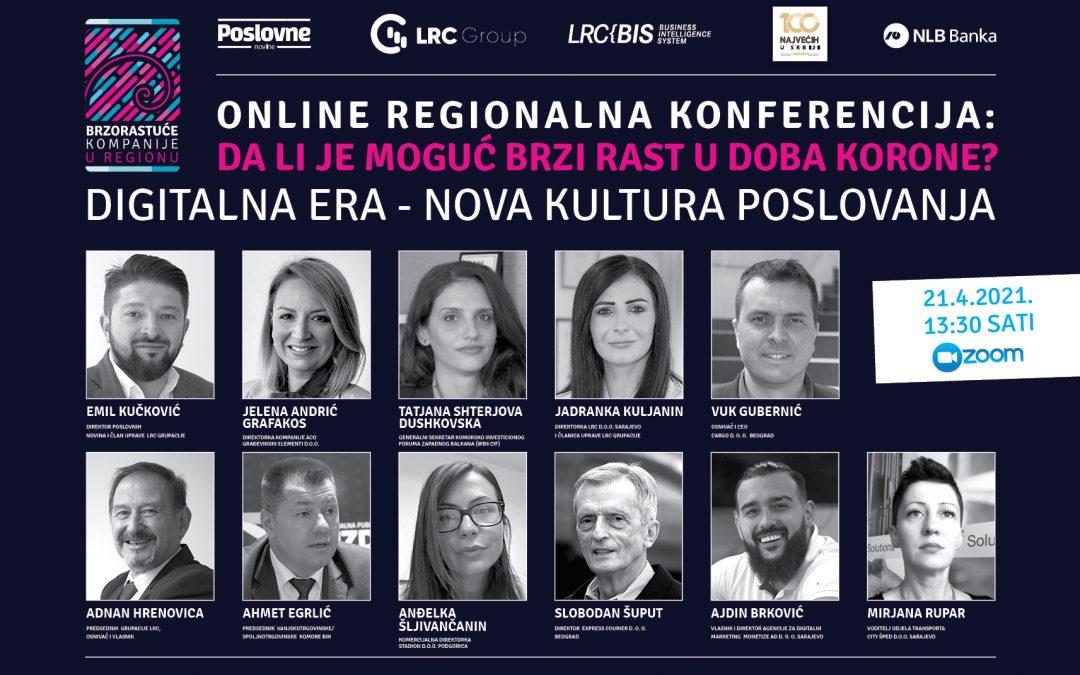 Održana regionalna online konferencija: Da li je moguć brzi rast u doba korone?