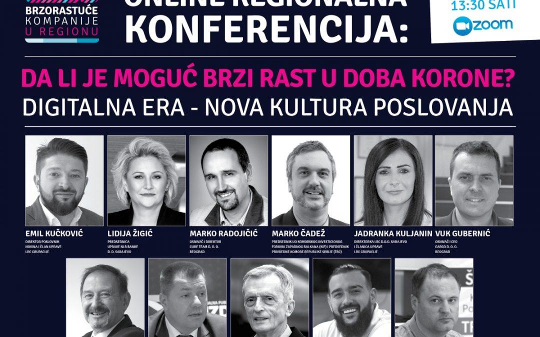 """Online regionalna konferencija: """"Da li je moguć brzi rast u doba korone?"""""""