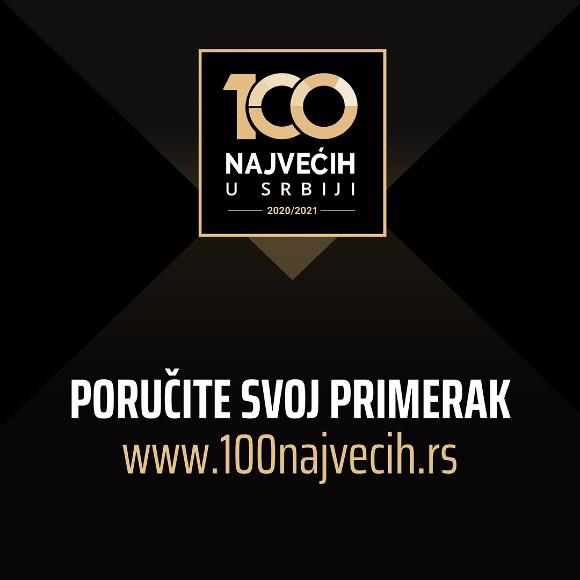 """Nova publikacija """"100 najvećih u Srbiji"""""""